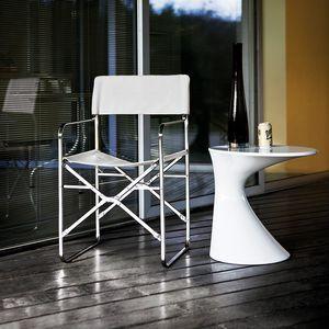 sedia moderna / con braccioli / pieghevole / con rivestimento rimovibile