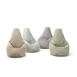 poltrona a sacco design originale / in tessuto / in pelle / con rivestimento rimovibile