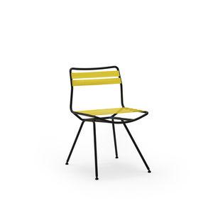 sedia moderna / su misura / in acciaio / in poliestere
