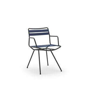 sedia moderna / con braccioli / su misura / in acciaio