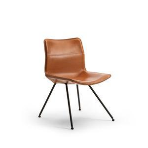 sedia moderna / imbottita / su misura / in acciaio