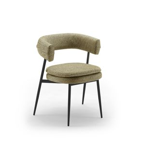 sedia moderna / imbottita / con braccioli / con rivestimento rimovibile