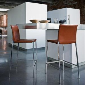 sedia alta moderna / con poggiapiedi / con rivestimento rimovibile / in tessuto