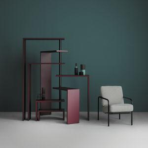 scaffale design originale / in MDF laccato / in acciaio inossidabile / di Achille Castiglioni