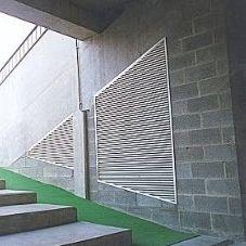 griglia di ventilazione in alluminio / rettangolare