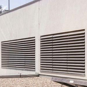 griglia di ventilazione in alluminio / rettangolare / acustica