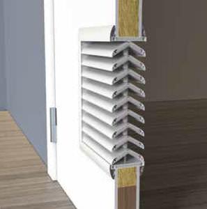 griglia di ventilazione in polistirene / in plastica / rettangolare / tagliafuoco