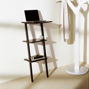 scrivania portacomputer design scandinavo / in legno / con supporto in legno / rettangolare