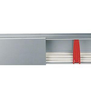 canalina di cablaggio in acciaio / a muro / industriale / verticale