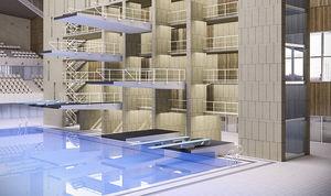 piscina da competizione da interno
