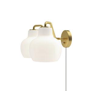 applique moderna / in ottone lucidato / in vetro soffiato / LED