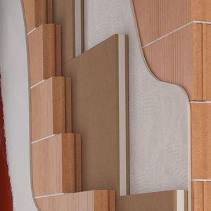 isolante acustico / in fibra di legno / in polipropilene / per muro