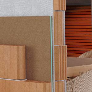 isolante acustico / in poliestere / in fibra di legno / per muro