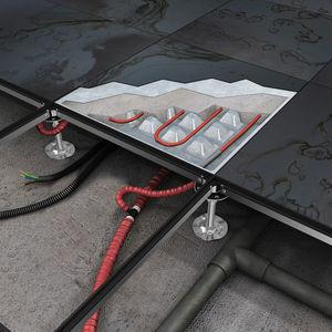 pavimento sopraelevato in metallo