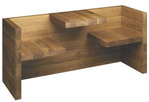 set tavolo e panca moderno / in legno massiccio / in alluminio / in calcestruzzo