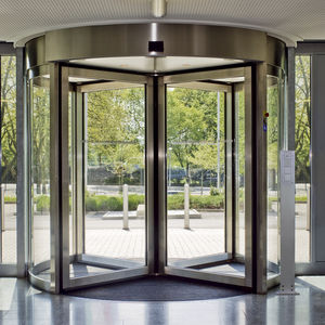 porta d'ingresso / girevole / in acciaio inox / di sicurezza