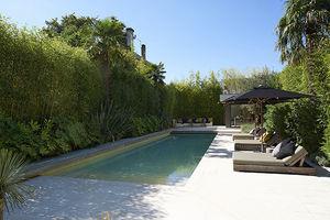 piscina seminterrata / in ceramica / da esterno