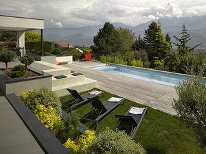 piscina interrata / in ceramica / per hotel / da esterno