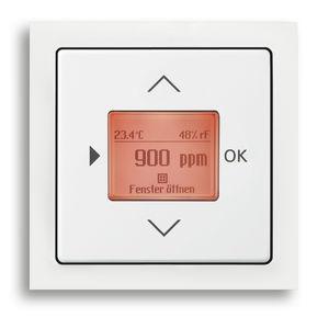 rivelatore di temperatura / di umidità / da parete / da interno
