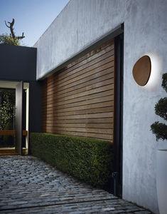 applique moderna / da esterno / in alluminio / in legno