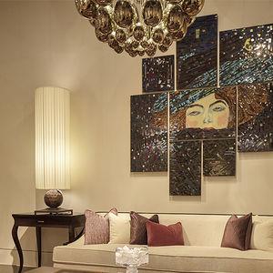 pannello decorativo in vetro / da parete / dipinto a mano / colorato