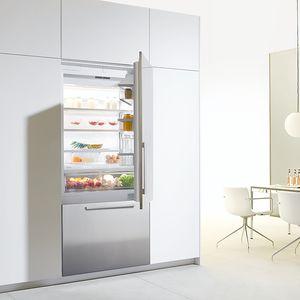 frigorifero combinato con congelatore basso / per uso residenziale / a cassetti / in acciaio inox