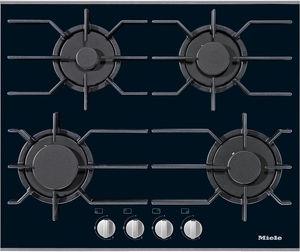 piano cottura a gas / con grill / in ghisa / 4 fuochi