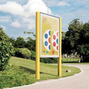 cartello pubblicitario con piedi alti / da esterno / alluminio / in lamiera d'acciaio