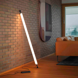 colonna luminosa moderna / in vetro / LED / da interno
