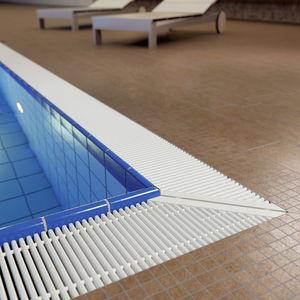 griglia per canalina in plastica / per piscina