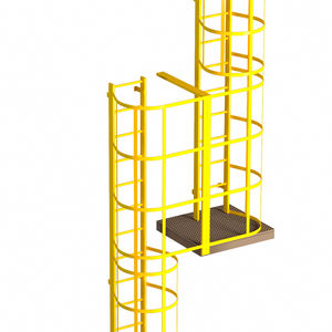 scala a pioli in metallo / con gabbia di sicurezza
