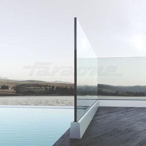 ringhiera in vetro / in alluminio / pannelli in vetro / da esterno