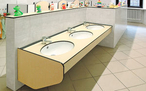 piano lavabo in HPL