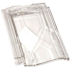 tegola con losanghe / in vetro / trasparente