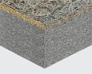 pannello sandwich isolante per tetto / per muro / rivestimento in fibre di legno / anima in polistirene espanso