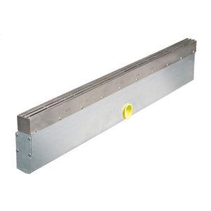 canaletta in acciaio inox / con griglie / a fessura / per porta