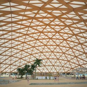 ossatura in legno lamellare / capriata / per tettoia / per spazi pubblici