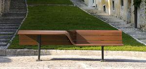 panca pubblica / moderna / in legno / in ghisa