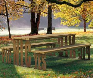 set tavolo e panca moderno