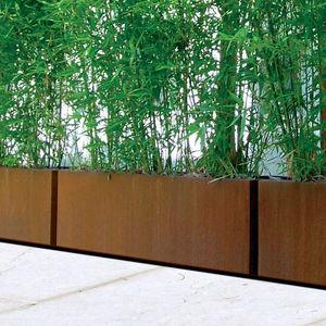 fioriera in metallo / rettangolare / moderna / per spazi pubblici
