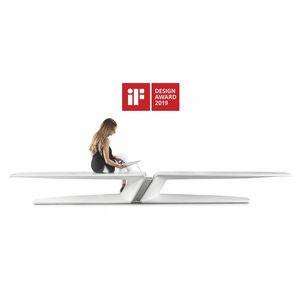 panca pubblica / design originale / in calcestruzzo ad alte prestazioni / con ricarica smartphone e tablet