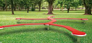 trave d'equilibrio per parco giochi