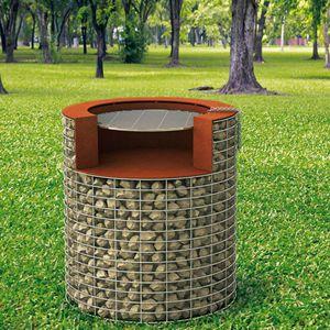 barbecue a legna / fisso / in pietra