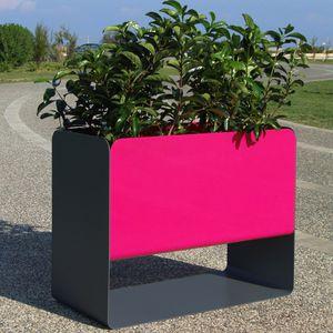 vaso da giardino in acciaio inossidabile / rettangolare