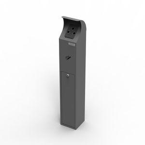 portacenere da terra / in acciaio galvanizzato / per esterni / per spazio pubblico