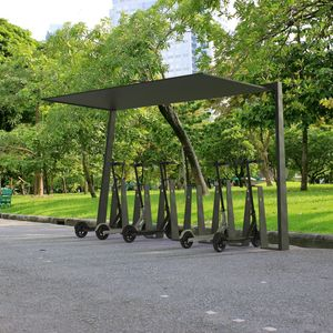 copertura in telo e struttura metallica per spazi pubblici per spazi pubblici