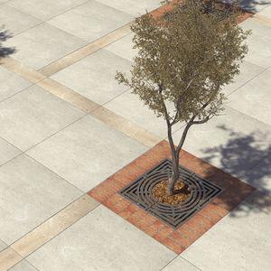 griglia per alberi in acciaio galvanizzato / quadrata