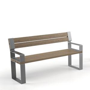 panca per spazi pubblici con schienale