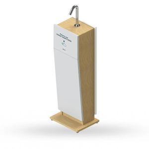 distributore di gel igienizzante a pavimento