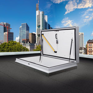 sportello d'ispezione per tetto / rettangolare / con scale / a taglio termico